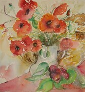 Minevois Poppy Still Life